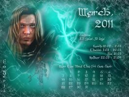 March 2011 desktop calendar by Lirulin-yirth
