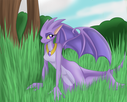 Purple dragoness by Mm38