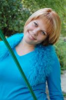 me in blue by LudmilaVyatkina