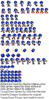 Young Sonic The Hedgehog by SonicGenerations564s