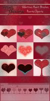 Valentines Heart Brushes by elixa-geg