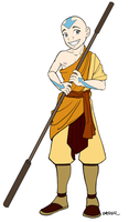 Aang - Commission by AmiraElizabeth