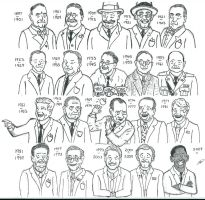 US Presidents of the 20th century and beyond by MCASEY92