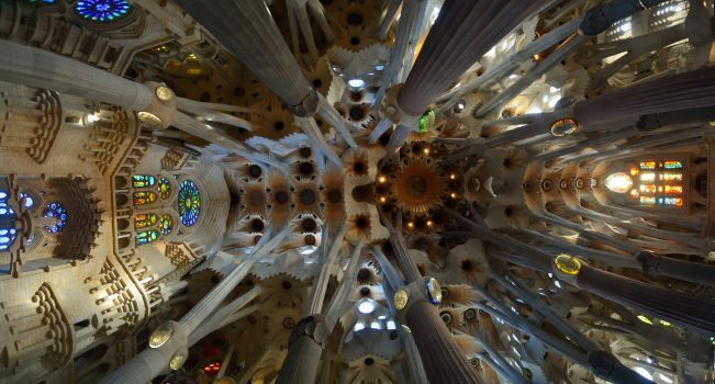 Sagrada Familia's roof panorama by CiLiNDr0