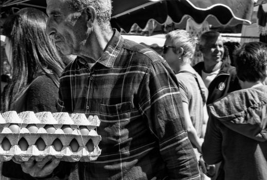 Eggs. Market Beaucaire. by jennystokes