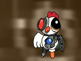 Powerpuff No. 044 Robo Chicken by Shini-Smurf