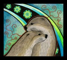 River Otters as Totems by Ravenari