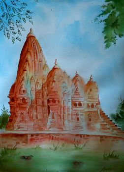 khujaro temple by DiptiArt