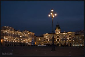Trieste at night no. 1 by Anakuklosis