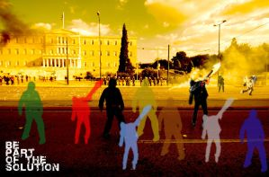 athens riot by taftar