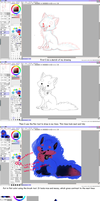 SAI coloring tutorial by 5EX