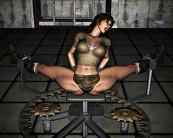 Lara Croft in Peril: The Spreader 18 by FatalHolds