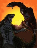 Kong Vs Gojira by moviedragon009v2