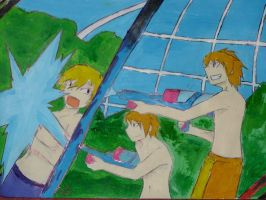 Ouran waterfight by yamiswift