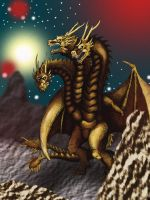Ghidorah colored by Crocazill
