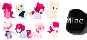 Star Drop X Black Rose [OPEN] by CuppieCakeAdopts