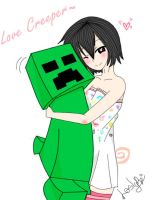 Kouta and Creeper Hug by Mayle-Namiki