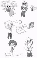 Host Club Chibi Doodles by Lolly-pop-girl732