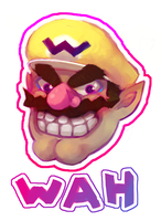 WARIO STICKER by Captain-By-Moonlight