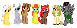 Great Ponies Group by Imborednstuff