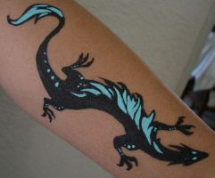 Arm Painted Dragon by gryphonworks