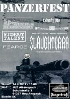 Flyer for Panzerfest Minifestival by Wormed