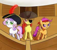 ATG Day 22: Cutie Mark Crusader Pirates! Yarrrgh! by ParadigmPizza