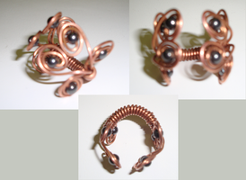 Copper Wire and Magnetic Hemitite Ring by TDGG