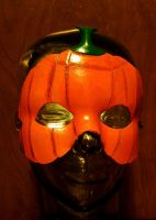 Leather Glowing Pumpkin Mask by Des804