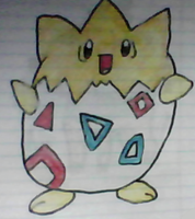 Togepi drawing by SusanLucarioFan16