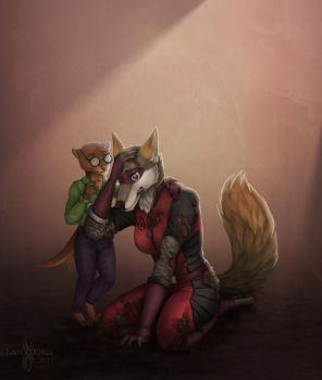 A Friend in Need - By Lady Kurai by Darkflame-wolf