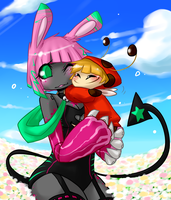 Karoo and Flan by Kikiine
