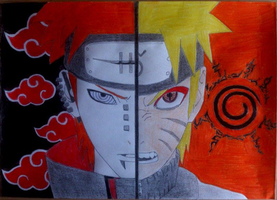 Naruto and Pain by CommanderDesu