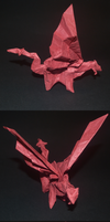 Red Origami Dragon by Repaer-Mirg