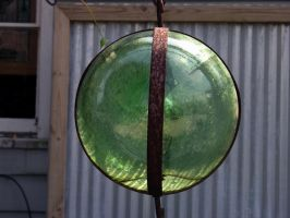 Green Sphere Globe 2 by FairieGoodMother