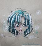 Colour sketch - WhiteandTurquoise - Sailor Mercury by CrisAngy88