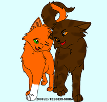 Brambleclaw and Squirrelflight by OneBangBeauty