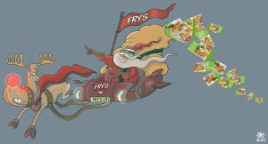 Merry Meat Less Christmas by Cosmic-Onion-Ring