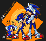 23 Years of the Blue Blur by MythicDragoness13