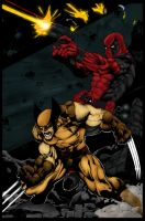 Wolverine and Deadpool by Ta2dsoul
