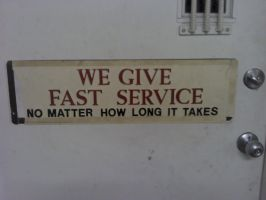 Fast Service by KarmicCircle