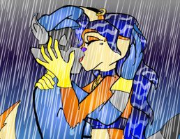 Kissing in the Rain by Moon-Shyne