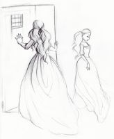 I love long dresses by MarineElphie