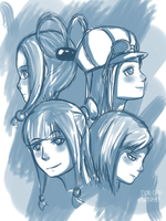 Ace Attorney Girls (Part 1) by kratos93