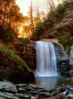 Looking Glass Falls Sunrise by M-Lewis