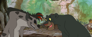 The Hyena and the Panther by SelenaEde