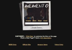 Memento Startpage by AwesomeStart