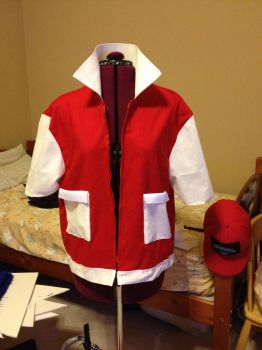Commission: Red Trainer Vest by xXSnowFrostXx