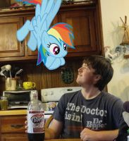 Me and Rainbow Dash hanging out ^^ by Stevenator-20xx