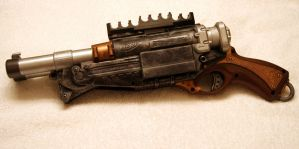 SteamPunk Nerf Shotgun by JohnsonArms